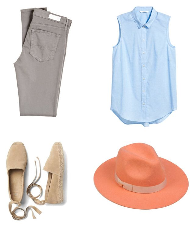 """""""Peach morning"""" by veronika-ustimenko on Polyvore featuring AG Adriano Goldschmied, Gap and Lack of Color"""