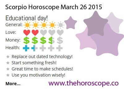 Educational day for #Scorpio on March 26th 2015 #horoscope …Below you can find the prediction for today and tomorrow! http://www.thehoroscope.co/Scorpio-Horoscope-today.php http://www.thehoroscope.co/Scorpio-Horoscope-tomorrow.php