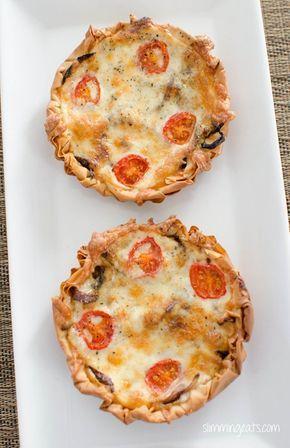 Caramelised Onion, Tomato and Mozzarella Filo Tart   Slimming Eats - Slimming World Recipes