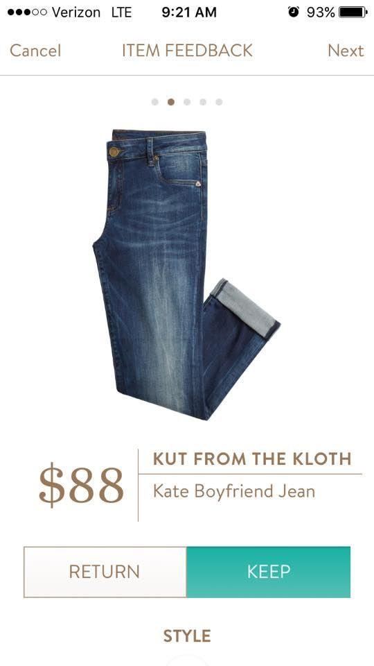 Kut From the Kloth Kate Boyfriend Jean #stitchfix #kftk
