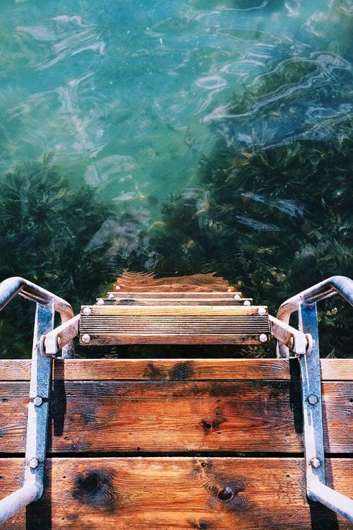 Ladder to the water.