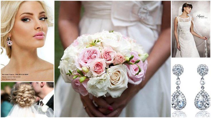 Pink wedding inspiration earrings NOVIA BLANCA biżuteria ślubna www.novia-blanca.pl