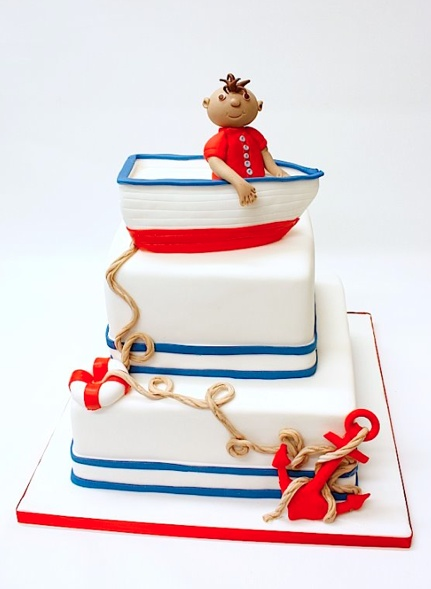 cute nautical theme cake