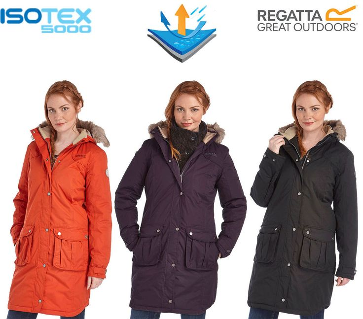 Regatta Lillier Ladies Parka Jacket Waterproof Breathable Insulated Long Coat