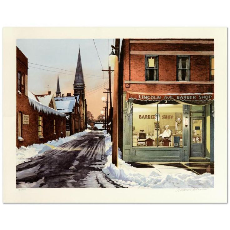 """William Nelson - """"The Barber Shop"""" Limited Edition"""