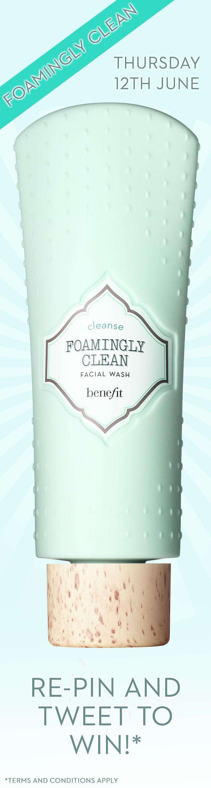 I'm in for a summer where #itsimplyworks with Benefit. Foamingly clean? Yes please! Repin for a chance to win
