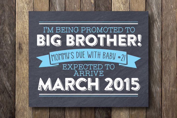 Big Brother Announcement - I'm Being Promoted to Big Brother - Printable Pregnancy Announcement - Pregnancy Reveal Sign - Big Brother Prop by TheLionAndTheLark on Etsy https://www.etsy.com/listing/209253186/big-brother-announcement-im-being