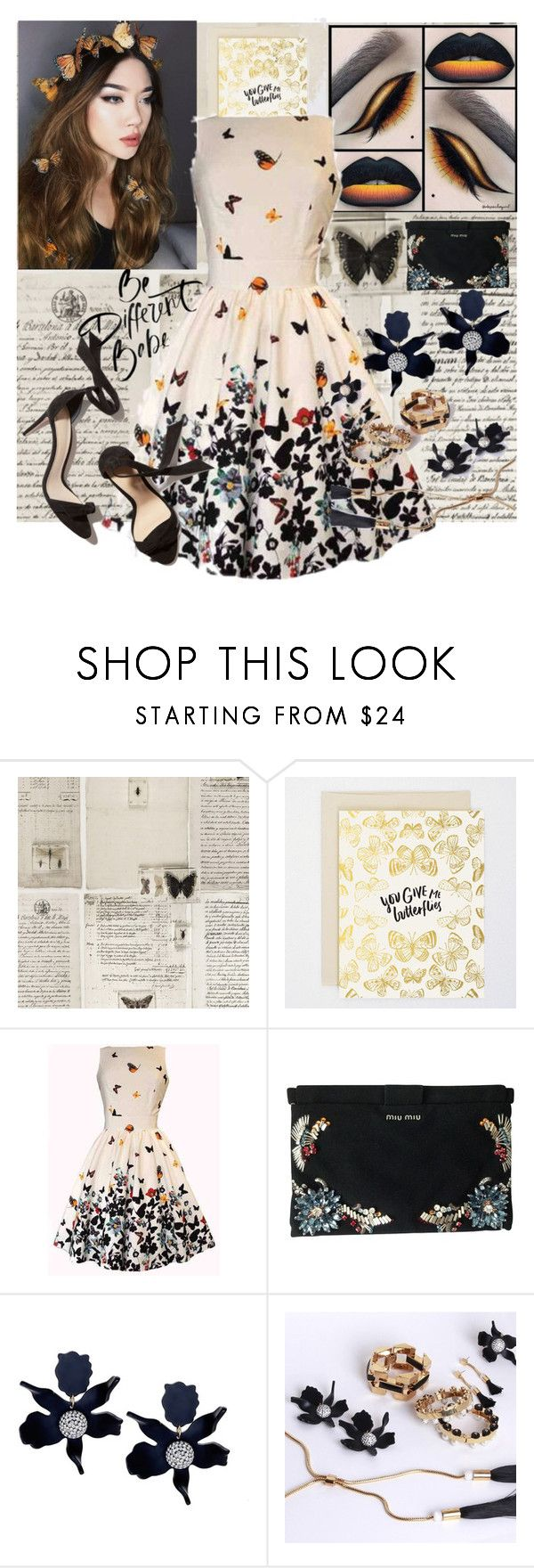 """You Give Me Butterflies"" by brittanyyoung-ii ❤ liked on Polyvore featuring WALL and Miu Miu"