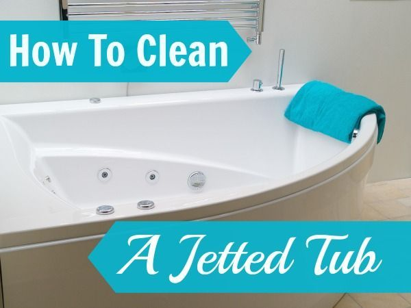 how to clean a jetted tub #bathroom #cleaning