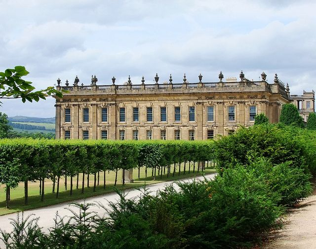 Chatsworth House, Derbyshire, UK. I like to think of this exquisite home as belonging to Mr. Darcy.