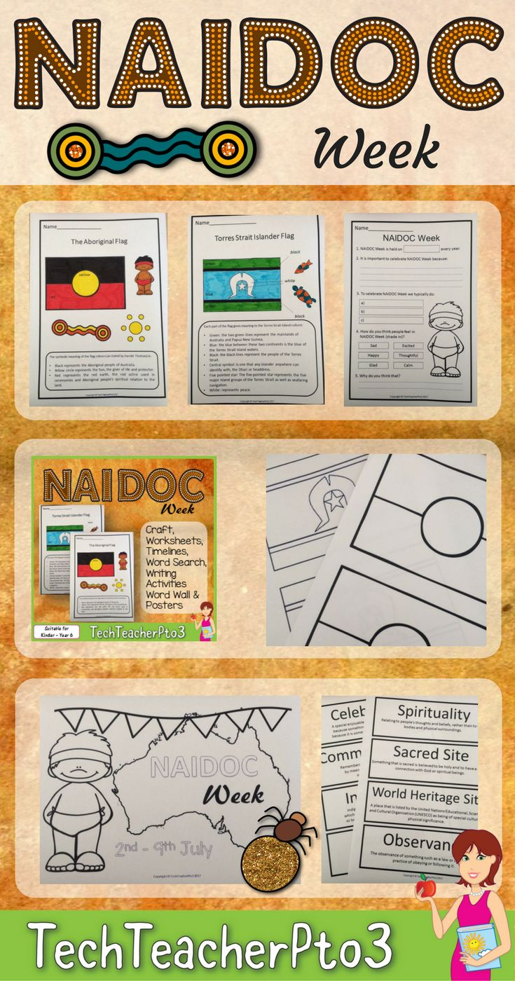 Everything you need to discuss NAIDOC Week in your primary classroom including posters, colouring pages, flags and activities. Explore the Aboriginal and Torres Strait Islander celebration of NAIDOC week.