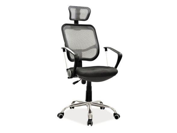 Fotel Q-216 to rewelacyjny fotel biurowy do pracy przy komputerze. Zagłówek oraz oparcie tapicerowane jest wysokiej jakości czarną siatką, a siedzisko pokryto czarną tkaniną membranową.  http://mirat.eu/fotel-q-216,id29066.html