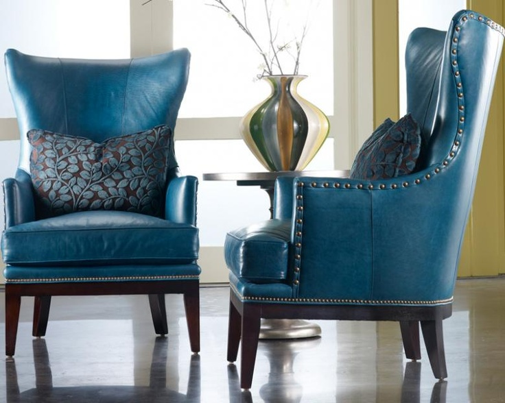 Bradington Young Taraval Chair : Leather Furniture... #chairs #leather #teal