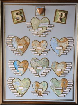 Another great world map themed seating plan. More map seating plan ideas at http://www.toptableplanner.com/blog/world-map-wedding-seating-plans