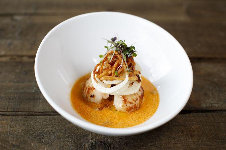 Talk about scrumptious! Pan-fried scallops, seafood & lemongrass broth, fennel shoots #newmenu #yum #food #dinner #wine #swords #eat #dublin #smallplates #largeplates #somethingforeveryone