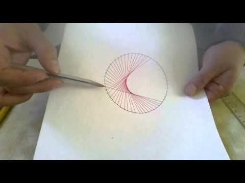 Círculo con líneas