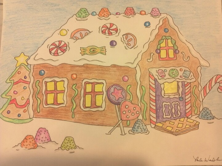 Gingerbread house - by Paula Wroblinski | Drawings | Pinterest