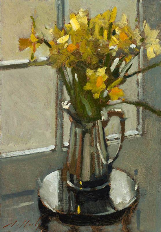❀ Blooming Brushwork ❀ garden and still life flower paintings - Paul Rafferty