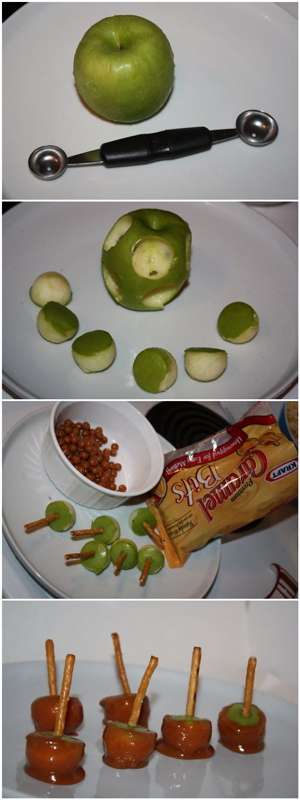Mini Caramel Apples. Ah! i love treats and i love little things. So cute