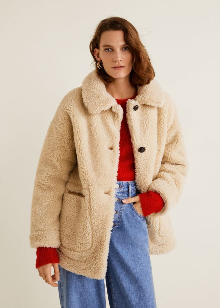 Manteau Imitation Mouton Femme Mode Automne Hiver Manteau