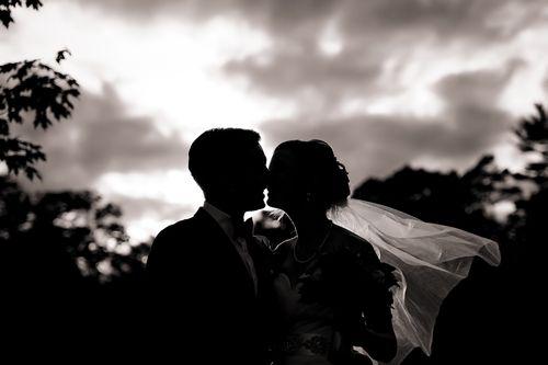 #blackandwhite #silhouette #wedding #toronto #damionrae #veil