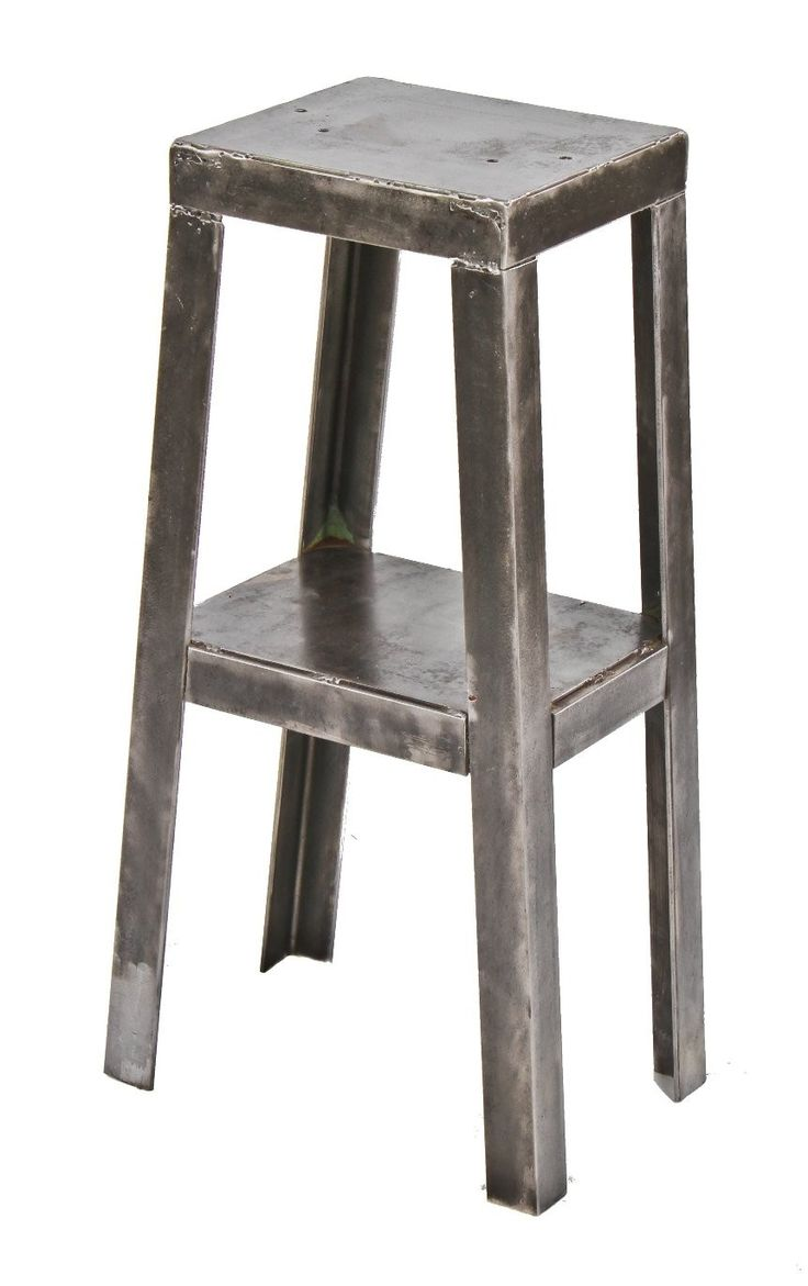 c. 1940's vintage american custom industrial all-welded joint angled steel four-legged stationary grinding machine base