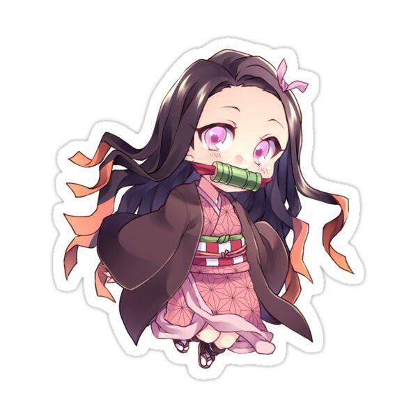 Nezuko Kimetsu No Yaiba Sticker By Ahmedtaki In 2021 Chibi Anime Kawaii Anime Stickers Cute Anime Chibi