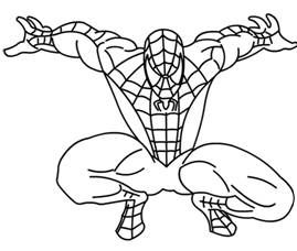 how to draw spiderman for kids