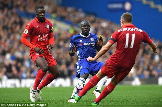 Marc Albrighton (right) struggled in possession during the first-half of the top flight contest