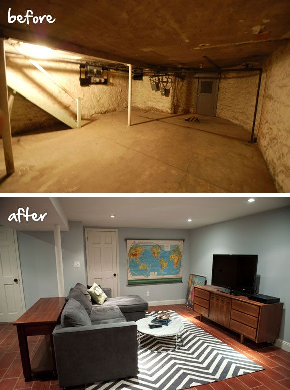 Mrslimestone brooklyn limestone embraced the cozy nature of her finished basement by painting - Basement makeover ideas ...