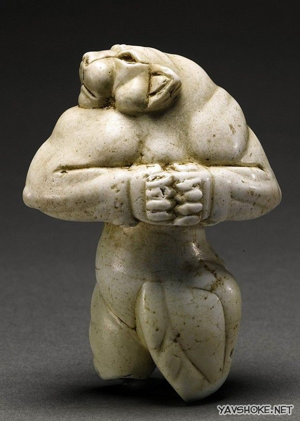 The Guennol Lioness is a 5,000-year-old Mesopotamian statue depicting an anthropomorphic lioness. The statue was found near Baghdad, Iraq. The Lioness Demon, an Elamite figure believed to have been created circa 3000–2800 BCE.