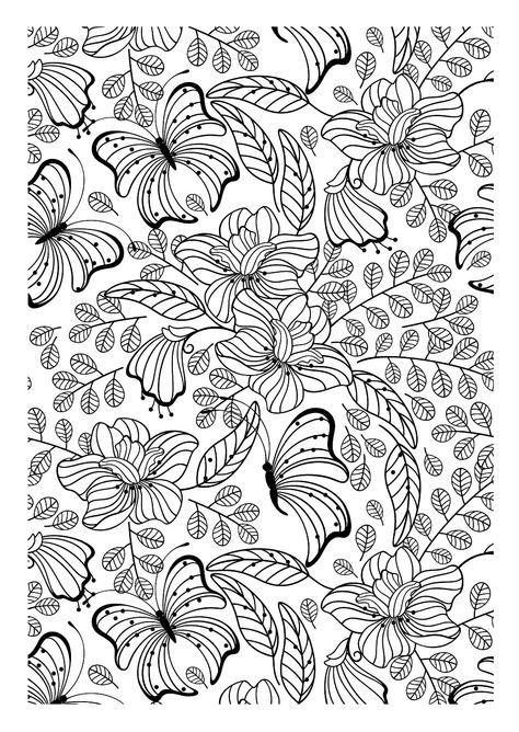galerie de coloriages gratuits coloriage adulte papillons encore une image imprimer et