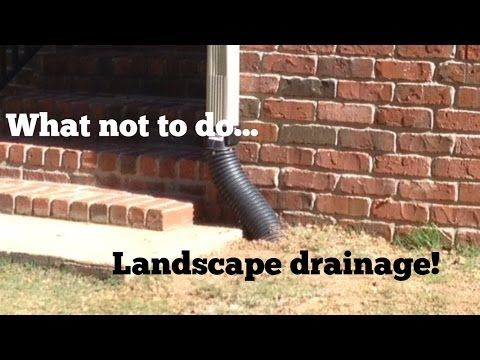 In This French Drain Tips Video I Cover Some Common Mistakes Made When Installing  Drainage Lines For Gutter Downspouts. Often When Installing New Drainage ...