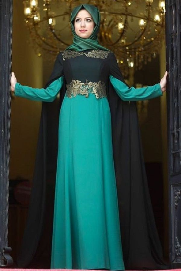 Abaya And Hijab In Funky Colors Girls Hijab Style