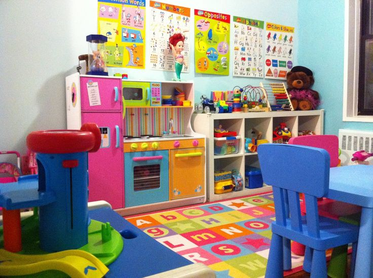 home daycare setup in living room - Google Search