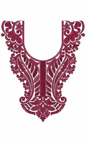 9740 Neck Embroidery Design