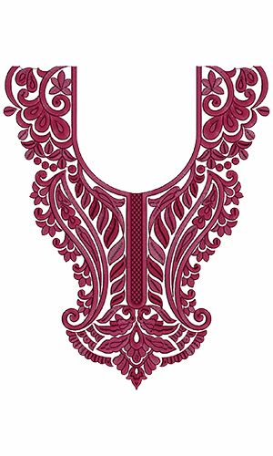 9740 Neck Embroidery Design