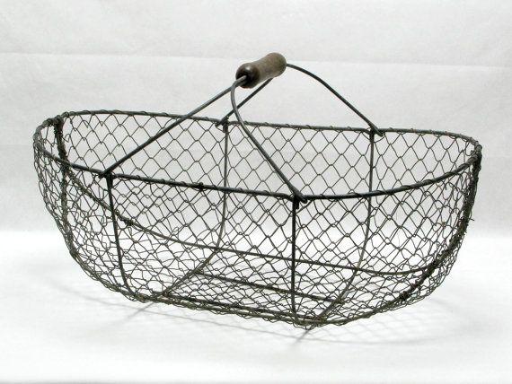Best 25+ Vintage wire baskets ideas on Pinterest | Wire wall ...