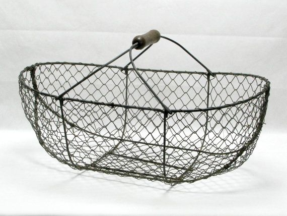 French wire  basket decorators piece interior by LittleFrenchOwl