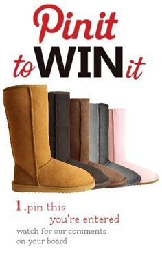 :) 1. Pin This 2. Pin your favourite pair of ugg boots at www.whooga.co.uk 3. We'll comment on your board if you win