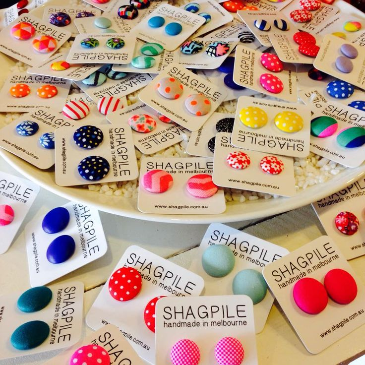 Cute and colourful Shagpile earrings, designed and made in Australia x