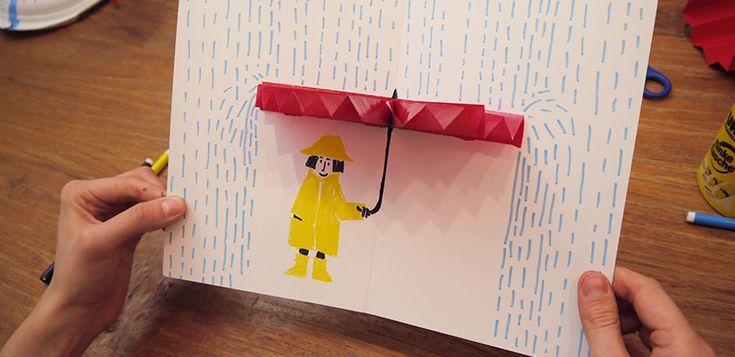Mit selbstgebastelten Schlechtwetterkarten könnt ihr Freunde aufmuntern, die gerade nicht so gut drauf sind! Schaut her, so könnt ihr sie machen:
