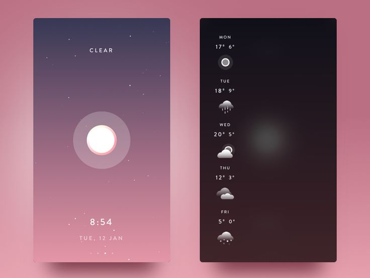 Weather App Inspiration — May 2017 – Collect UI Design, UI / UX Inspiration Blog – Medium