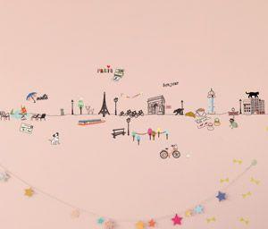 Sticker frise murale autocollante Paris Mimi Lou