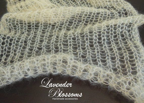 Loose Knit Shawl Pattern : Airy Loose Knit Mohair Wrap newborn photo prop mohair wrap. Knit baby blanket...