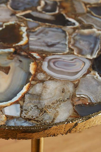 Table top made up of pieces of agate. I bet this is really heavy, but it's wonderful to look at. (anthropologie.com)