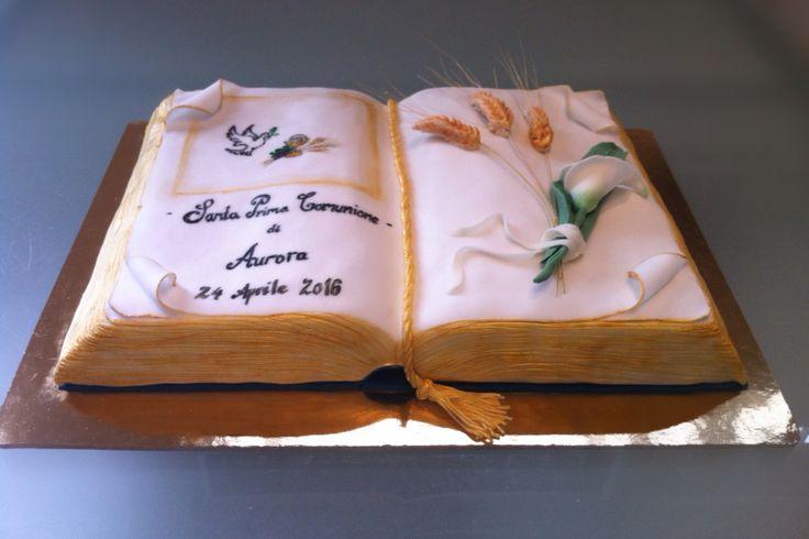 Torta Prima Comunione - torta Bibbia - le dolci creazioni di Camilla Jesholt Buffatti