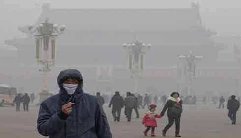 2nd pollution red alert in Beijing, hazardous smog indicated