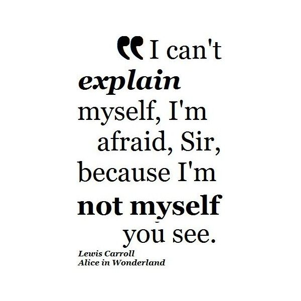 Lewis Carroll Alice in Wonderland Quote