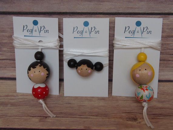 Wooden Bead Necklace // Peg Doll Necklace // Girls by PegandPin